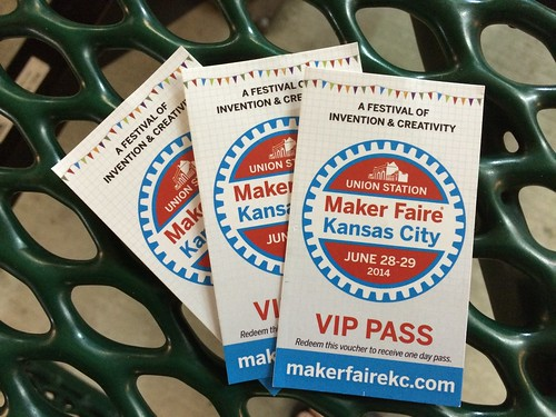 June 2014 Maker Faire Kansas City ticket by Wesley Fryer, on Flickr