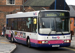 First Potteries 60004 S356MFP Scania L113CRL Wright Axcess Ultralow former Leicester 356 (chrisbell50000) Tags: bus ex station leicester first deck trent single former wright stoke scania potteries 7a decker 356 on hanley axcess ultralow 60004 l113crl s356mfp chrisbellphotocom