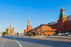 The Red Square in Moscow (exsulor) Tags: architecture buildings cathedral russia moscow capital towers landmark mausoleum historical sight redsquare kremlin stbasils leninstomb