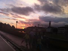 Firenze San Giovanni 2013 (giovannipiccioli) Tags: sunset rain clouds umbrella landscape san tramonto nuvole ponte cielo firenze 24 arno giugno palazzo pioggia giovanni ombrello vecchio piccioli