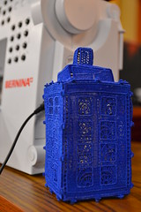 TARDIS assembled (radargeek) Tags: oklahoma reed who center doctor convention 23 tardis ok 2014 bernina midwestcity soonercon