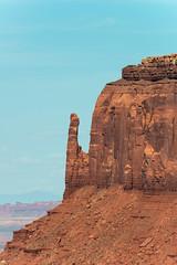 East Mitten Butte at Monument Valley, Arizona (MikePScott) Tags: camera arizona usa lens rocks butte unitedstates valley monumentvalley topography merrickbutte westmittenbutte eastmittenbutte nikond800 oljatomonumentvalley nikonaf80400mmf4556vr