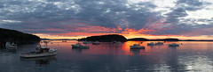 Bar Harbor Panoramic (www.bernardchen.com) Tags: ocean light sky lighthouse water beauty silhouette horizontal architecture clouds america outdoors twilight guidance maine tranquility nopeople safety dramaticsky protection atlanticocean acadia scenics tremont eastcoast fresnellens tranquilscene acadianationalpark mtdesertisland moodysky bluehill beautyinnature buildingexterior timescapes nonurbanscene bassharborheadlighthouse colourimage bernardchen builtstructure
