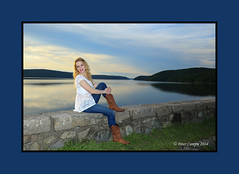 Courtney at The Quabbin (Peter Camyre) Tags: girls summer portrait girl beautiful smile face fashion lady female portraits canon pose lens ma photography model cowboy pretty photographer faces image boots modeling outdoor dam massachusetts country courtney picture posing images reservoir jeans peter vogue blond blonde mass quabbin phot ef poses glamor ware winsor belchertown speedlite 2470 camyre