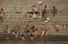 (kekyrex) Tags: india varanasi bathing ganges benares