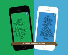 Flatdesign (JINPNA) Tags: typography typo longshadow flatdesign nhocpna