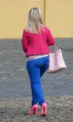 2014-052035 (bubbahop) Tags: pink people fashion shoes statement heels slovakia 2014 bardejov europetrip30