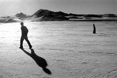 walk in the sun (asketoner) Tags: winter shadow mountain lake snow landscape daylight waterfall iceland north snowfield myvatn islande akureyri godafoss geothermical geothermics isklandi