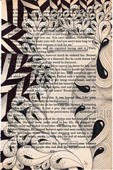 regret (Jo in NZ) Tags: blackandwhite drawing foundtext foundpoetry zentangle nzjo