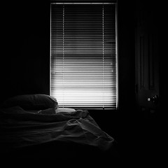 (helmet13) Tags: bw window bed blind silence simplicity dormitor