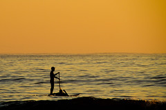 Paddle boarder at (loobyloo55) Tags: