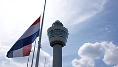 Flag at half mast in Netherlands for flight MH17 (HereIsTom - Busy moving!) Tags: travel people sun holiday holland nature netherlands dutch amsterdam airplane vakantie airport europe aids view shot you killing russia crash vlucht sony flight nederland australia 15 cybershot down ukraine tourists passengers crew tragedy views malaysia 17 airlines mh schiphol victims catastrophe vliegtuig webshots 283 oekraine 298 mh17 vliegramp hx9v
