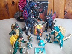 Gigan Collection (gigan72ofTohoKingdom) Tags: japan bc vinyl millenium card bandai creations showa gigan revoltech