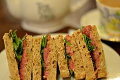 Tea and Sandwiches (meg_danner) Tags: food london beer soup hotdog duck tea chinese sausage bap cider fries hamburger sandwiches