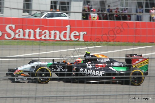 Sergio Perez in qualifying for the 2014 German Grand Prix