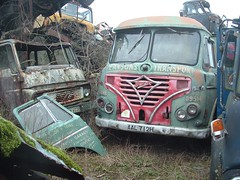 Pearson's Foden AAL712H alongside Dodge (Shaun Ballisat (Transport Photos)) Tags: foden lorry truck vintagecommercialvehicles scrapyard scrap yard motors vintage classic trucks lorries vans van commercial vehicle rusty rust authentic dodge tractor unit artic vehicles theplace abandoned derelict preserved resting panes