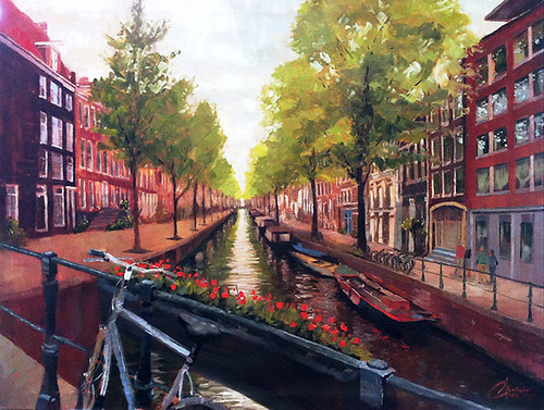 Amsterdam-Project,-commission-painting