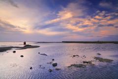 sunset (Thunderbolt_TW) Tags: sunset sea sky sun reflection water windmill canon landscape taiwan     hy windturbine bai  changhua       hsienhsi  fave50 changpingindustryarea hybai