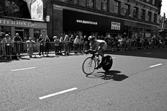 Cycling Time Trial, Glasgow 2014, 31/7/14 (North 55. www.north55.co.uk) Tags: blackandwhite bw white black game monochrome sport scotland crowd july scottish games fans sporting 31 commonwealth 2014