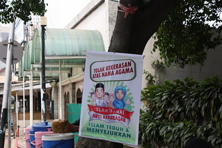 Poster & Spanduk Islam Damai di Masjid Al-Muhajjirun Jakbar