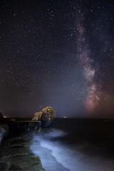Milky Way Over Dorset (Mr F1) Tags: ocean sea night clouds dark dorset dust milkyway portlandbill pulpitrock johnfanning