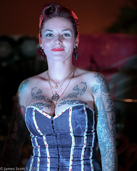 20140809 5DIII South Florida Tattoo Expo 166 (James Scott S) Tags: girls heron smile coral tattoo ink marriott canon scott james bay dof expo florida south s springs fl cleavage 70200 pinup ef inked parkland 2014 lr5 5diii