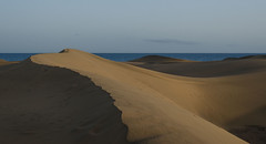 Dunas de Maspalomas (mikeplonk) Tags: sunset shadow sea sky grancanaria evening sand nikon afternoon dusk dunes canaryislands dunas islascanarias maspalomas playadelingles canaryisles d5100