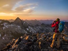 Golden Hour Summit Photos! (Karsten Klawitter) Tags: bc britishcolumbia climbing alpine rockclimbing gimli southridge alpineclimbing mountainculture nicolespics sridge climbingtrip2014 summertrip2014