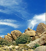Fly-over, Joshua Tree NP, CA 8-13 (inkknife_2000 (8.5 million views +)) Tags: usa landscape desert skyandclouds vaportrail joshuatreenationalpark rockpiles dgrahamphoto