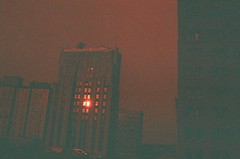 Youngstown in Reverse (Stephen Poullas) Tags: film redscale