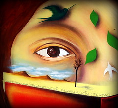 (brotes... de los árboles caidos) (Felipe Smides) Tags: libertad mural murals resistencia viva memoria organización muralismo imaginación neltume smides felipesmides