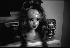Friend's Mantle Tmax 400 Pushed to 1600 (adoephoto) Tags: bw film 35mm blackwhite kiss mask kodak head tmax rangefinder 400 pushed rodinal petri mantle pushed2stops homedeveloping r09 petriracer