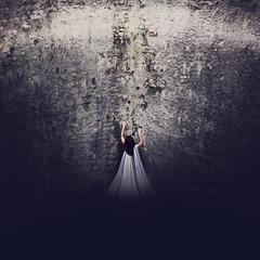My Heart is Set on Living (leighbishopphotography) Tags: portrait woman girl wall dark photography climb nikon rocks surrealism fineart squareformat effort conceptual hopeful leighbishop