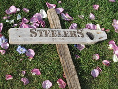Driftwood Sign (US Rt 40) Tags: wedding sign utah ut driftwood saltlakecity slc steelers gosteelers sumer littlecottonwoodcanyon summerwedding lacaille outdoorswedding driftwoodsign steelerssign