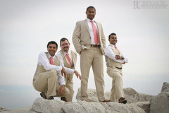 Groomsmen on the Rocks