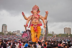 Ganesh visarjan day in Mumbai, India