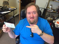 See this Louisiana Film Prize ticket Ian is holding? Today it's just $30 for access to Film Prize, Louisiana Music Prize and the Red River Revel. Ian thinks that's a lot of stuff 30 bucks. Get your ticket now before Ian decides he wants to change the pric