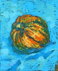 Squash (Kira_Culufin) Tags: stilllife art vegetables painting chalk soft vibrant pastel vivid squash pai pastelart
