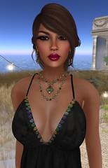Celestial Diva (Kat the Desert Girl) Tags: hair necklace eyes shoes truth dress skin secondlife heels earrings rir illi slink maxidress earthstones groupgift alvulo shopfreestyle