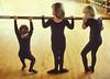 Antsy Ballerinas (Robert Louis Clemens) Tags: ballet dance photojournalism tights leotards candidphotography dancestudio practicebarre younddancestudents