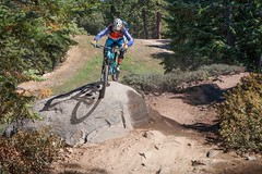 Big Bear Mountain Resorts Bike Park at Snow Summit in Big Bear Lake, California.