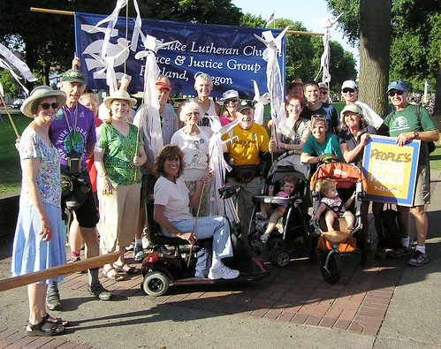 St.Luke Marchers at People's Climate March in Portland