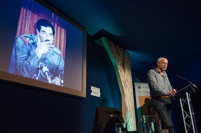 Justin Marozzi on stage at the Edinburgh International Book Festival