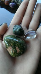 (pipsinclair666) Tags: magick stones healing wicca witchcraft smokeyquartz tumbledstones