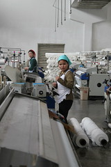 Pyongyang Textile Factory (Ray Cunningham) Tags: workers factory north korea textile socialism pyongyang dprk coreadelnorte
