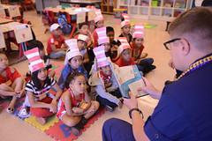 Coast Guard members read to Kalihi Elementary students (Coast Guard News) Tags: coastguard oahu d14 hawaii honolulu kalihi elementary read drseuss books readingacrossamerica pacom unitedstates us