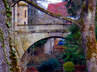 Castle Neuenstein, entrance bridge