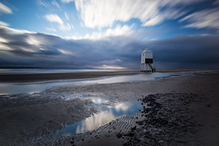 Burnham Lighthouse (peterchilds93) Tags: somerset burnham sea beach uk blue sky clouds movement long exposure nd 100 nd1000 polarizer slow shutter speed reflections mirror water coast sony a6000 alpha sand ripples tide f2 f20