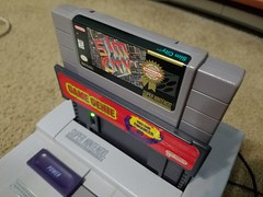 SimCity in Game Genie in SNES (Dan Keck) Tags: videogames videogame nintendo super supernintendo supernintendoentertainmentsystem maxis galoob 16bit console cart cartridge game gaming retro 1990s city simulation cheat