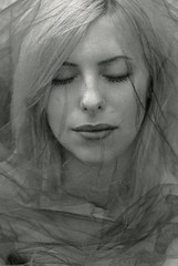 (CSKalinsky) Tags: portrait girl headshot beauty darkart blackandwhite monochrome creative veil tulle mood